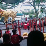 Lion Dance on poles