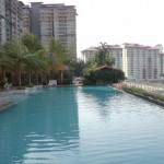 View from the lap pool