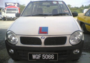 Metro Academy official car, the Perodua Kancil